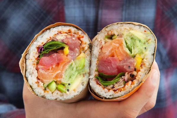 emballage sushi burrito