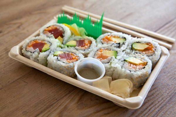 Barquette sushi écoresponsable pour la vente à emporter