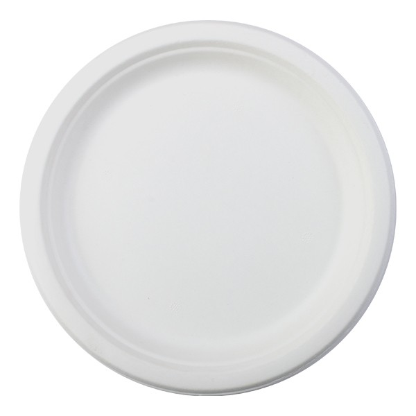 assiette canne à sucre biodegradable 26 cm