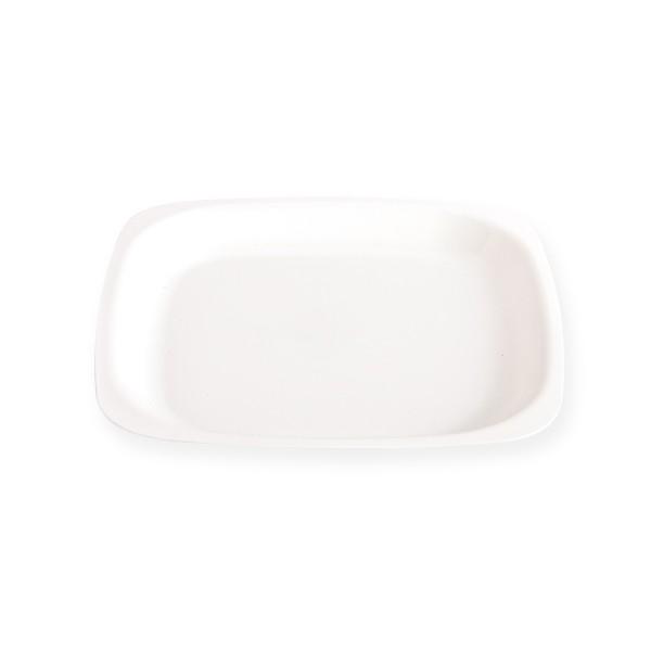 assiette blanche 18 cm réutilisable
