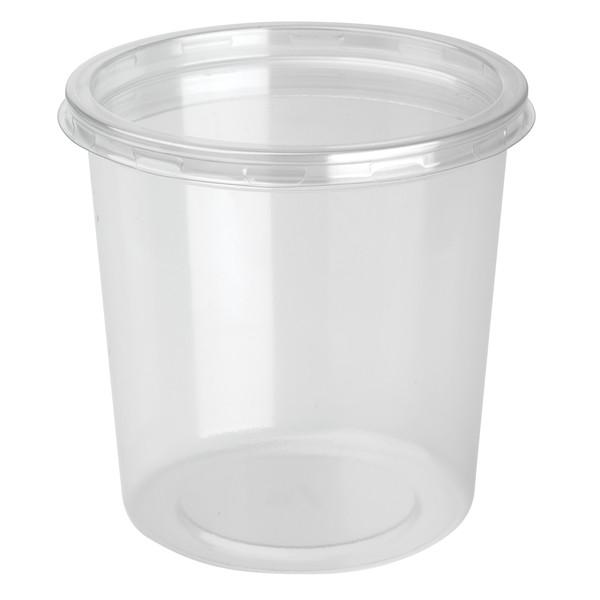 pot a dessert plastique avec couvercle