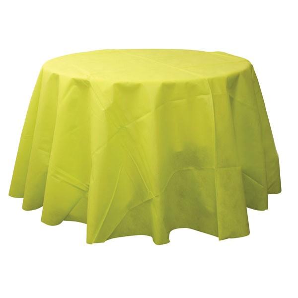 Nappe ronde intissée vert lime 240 cm