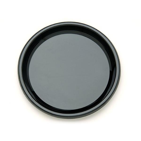 plateau rond noir jetable de 30 cm