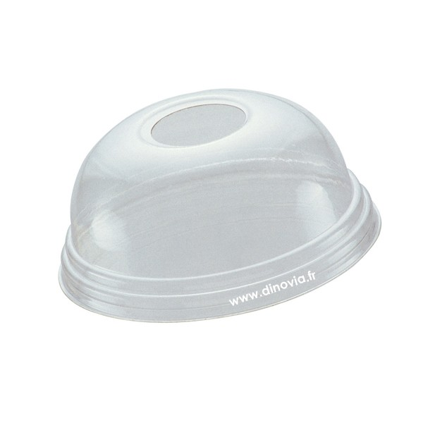 couvercle dome avec trou pour pot a dessert 20 et 25 cl