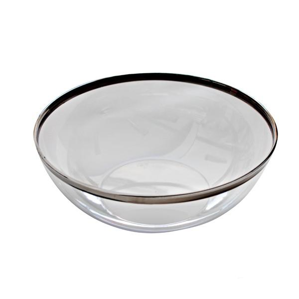 Saladier Cristal bord argenté 27 cm