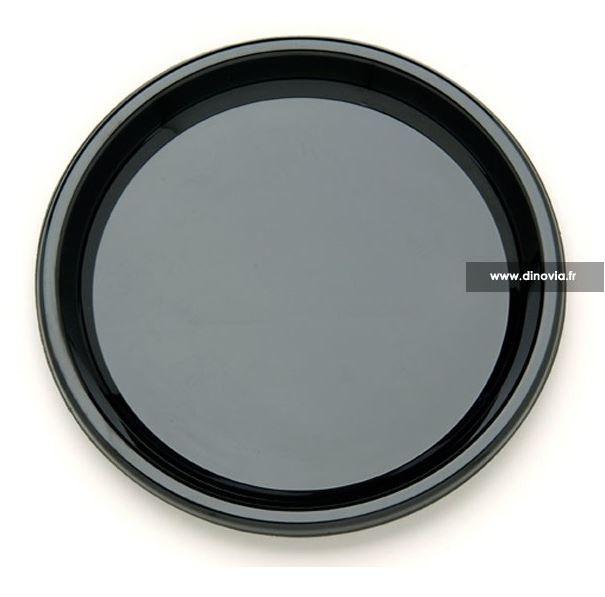 assiette jetable ronde noire 23 cm
