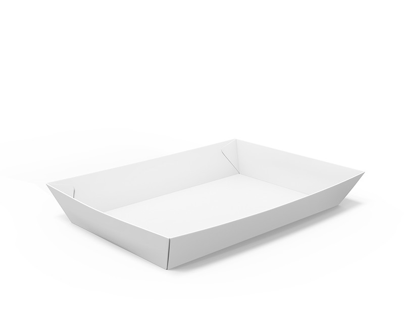 barquette alimentaire carton blanche