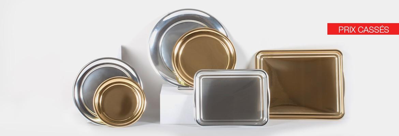 vaisselle or et argent noël jour de l'an