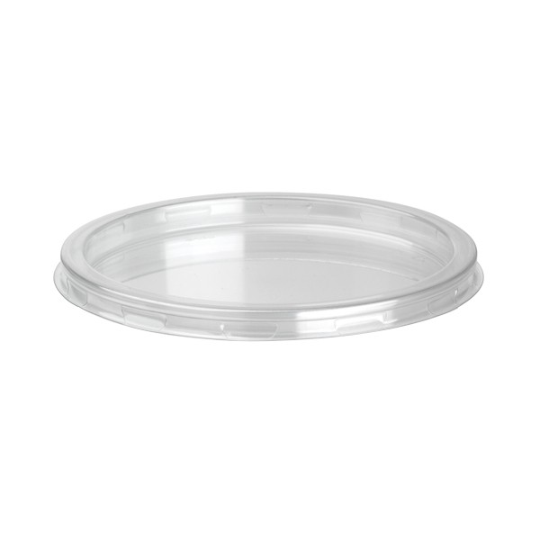 Couvercle transparent pour pot a dessert jetable 95 cl