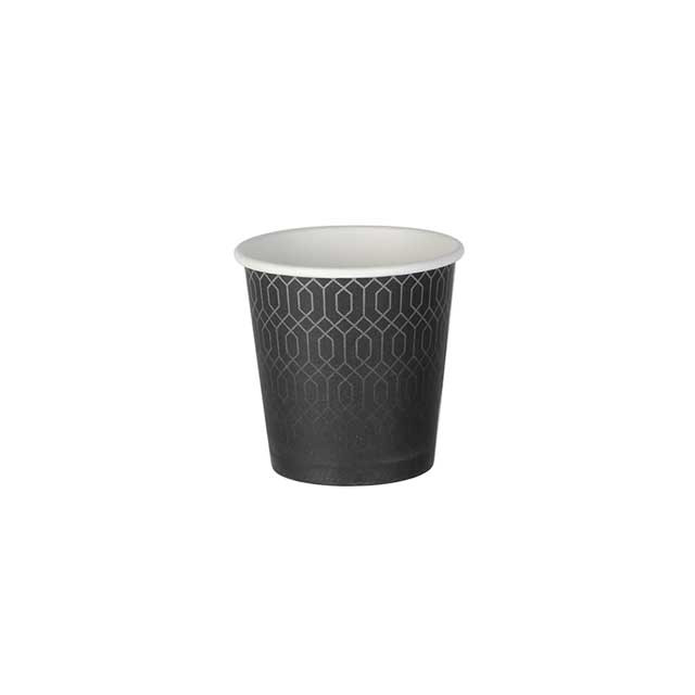 Gobelet carton kraft décor Grey Lines simple paroi 10 cl