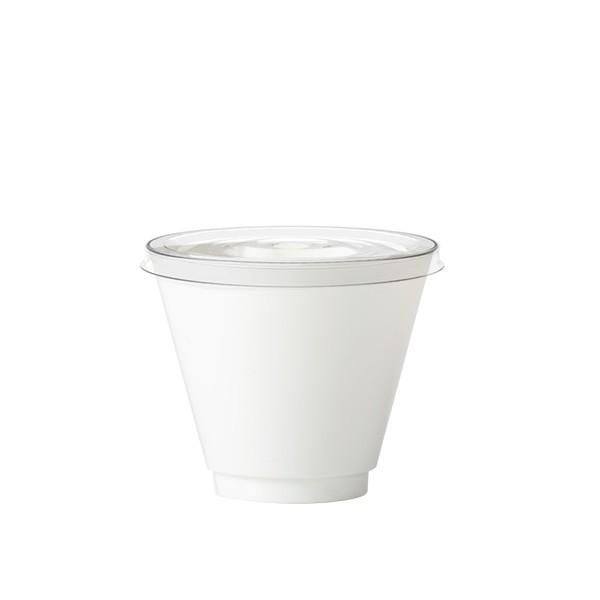 verrine plastique blanche avec couvercle