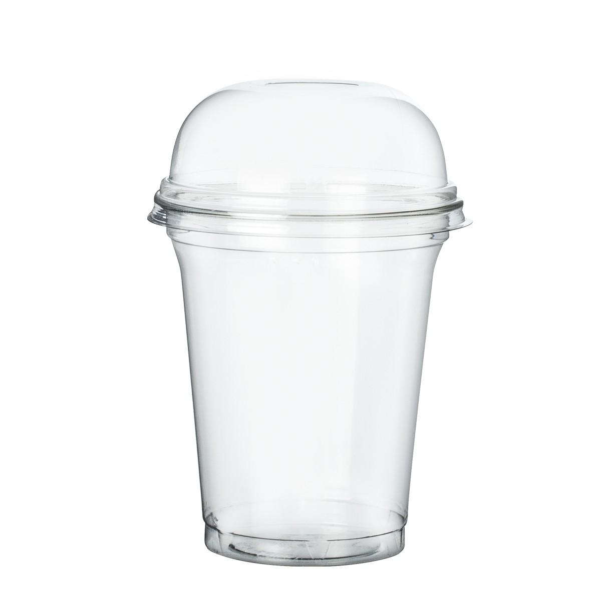 Gobelet jetable plastique recycle 30/40 cl avec couvercle