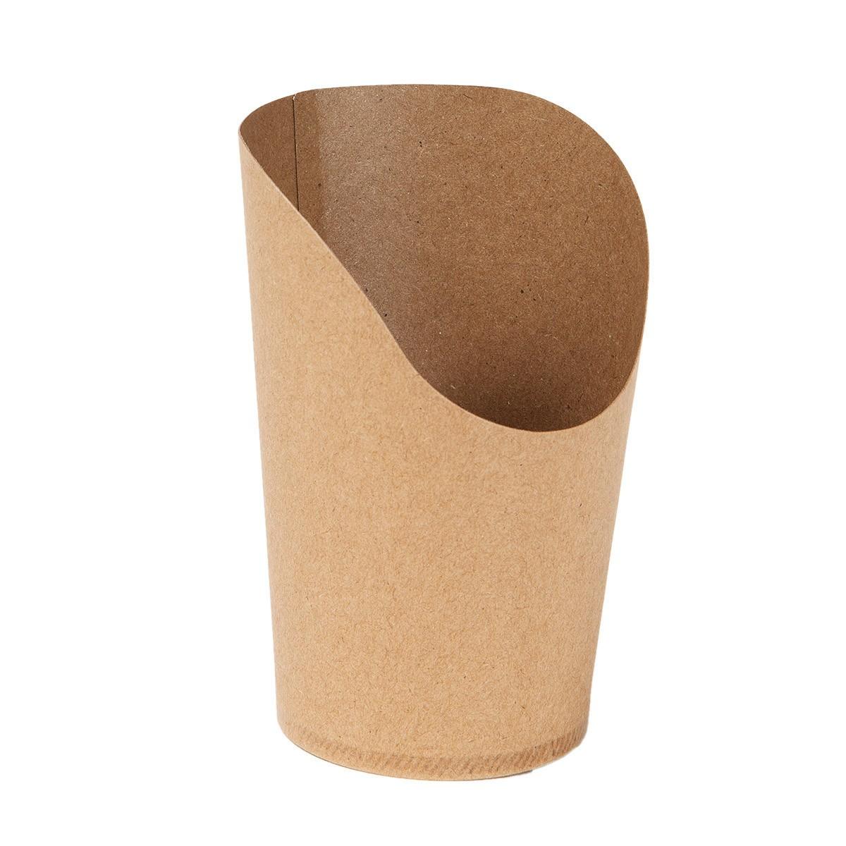 Pot wrap carton brun 160 ml