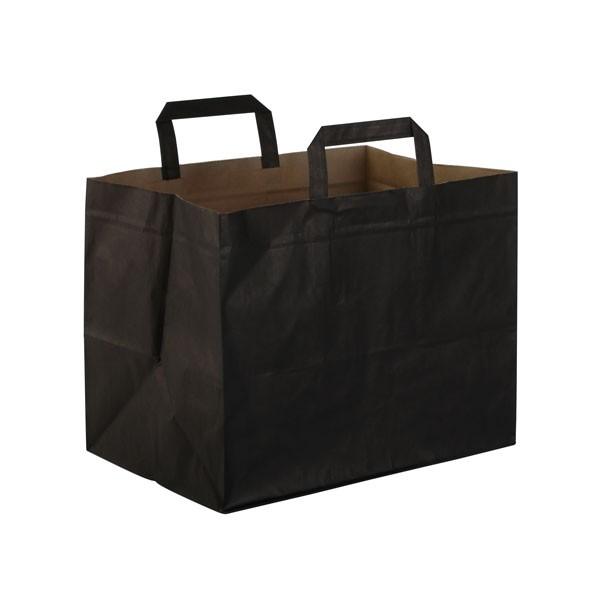 sac kraft a poignees plates noir