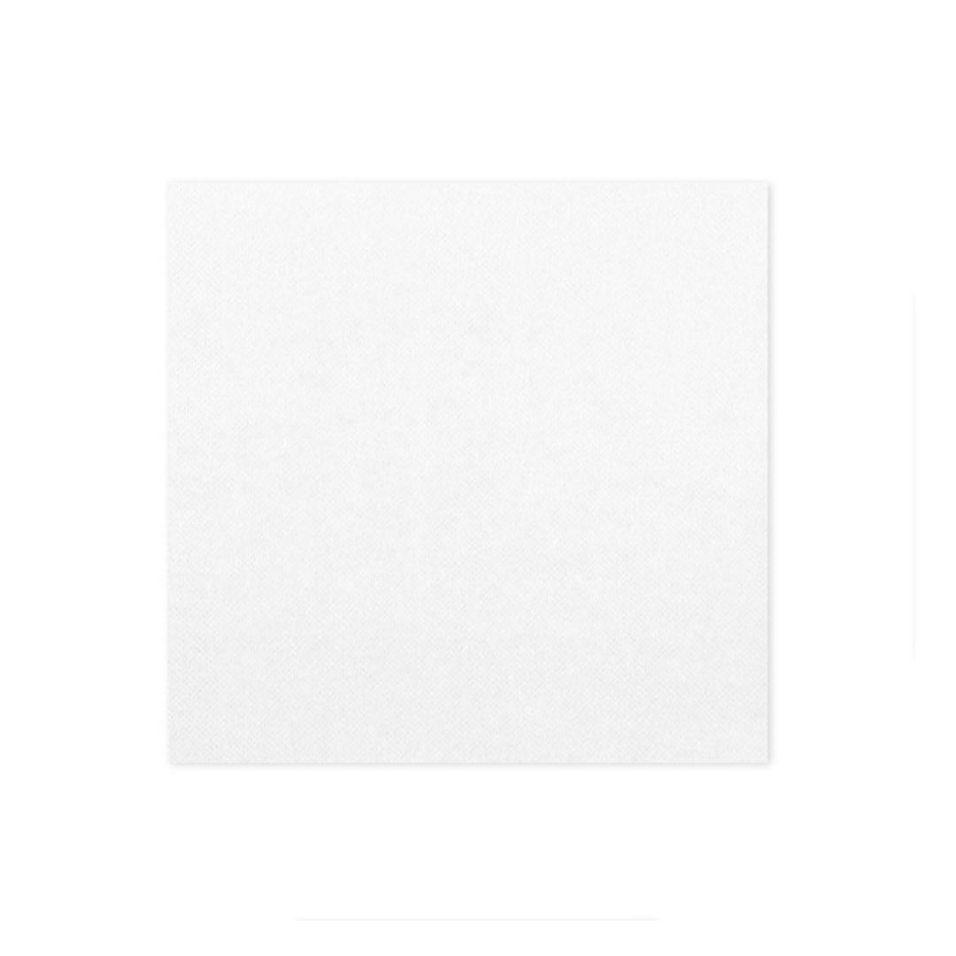 Serviette papier blanche 33x33cm 2 plis