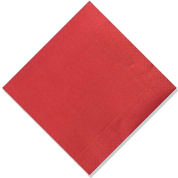 serviette jetable celi ouate couleur bordeaux 38x38 cm