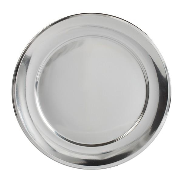 Assiette présentation argentée 31cm