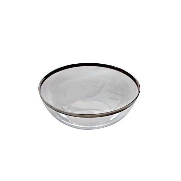 Saladier transparent bord argenté 14 cm