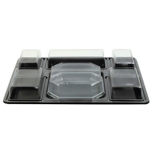 plateau repas compartiments jetable