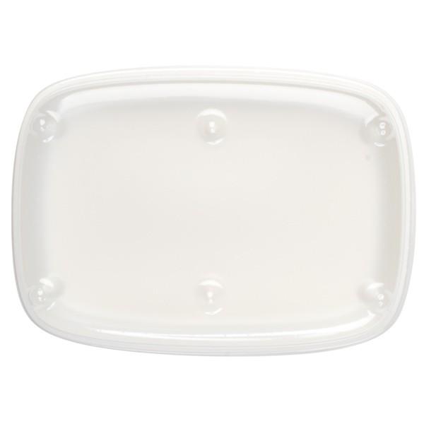 Grande assiette blanche pour plateau repas