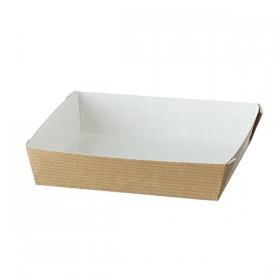 Barquette carton CUBIK NATURAL 130x130