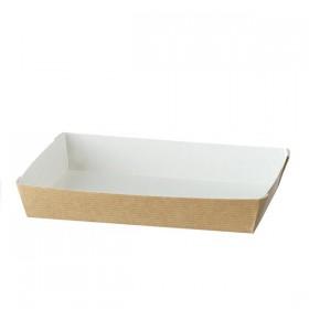 Barquette alimentaire carton 180x130 mm