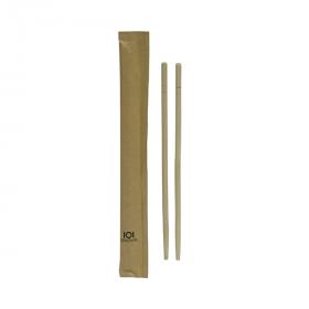 Baguettes chinoises bambou en sachet kraft