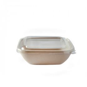 Barquette compostable carrée 750 ml