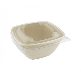 Barquette compostable carrée 500 ml