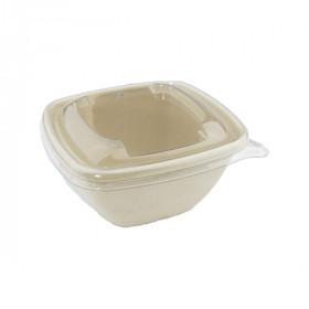 Barquette compostable carrée 375 ml