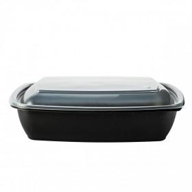 Barquette noire rectangulaire COCOTTE micro ondable 900 ml