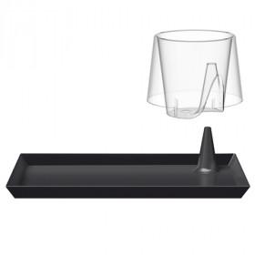 Coupelle rectangle LUX Noire 20x13 cm