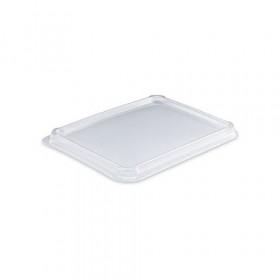 Couvercle PET pour barquette alimentaire carton 800 ml