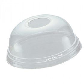 Couvercle dôme avec trou pour gobelet/pot POLARITY 30 cl