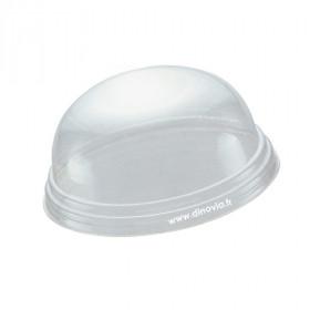 Couvercle dôme sans trou pour gobelet/pot POLARITY 20 cl
