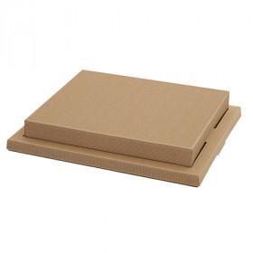 Couvercle pour plateau repas carton NATURAL
