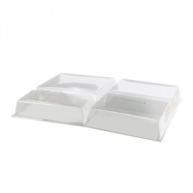 Couvercle RPET pour plateau repas carton BIODINE