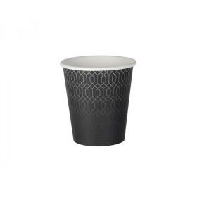 Gobelet carton kraft décor Grey Lines simple paroi 20 cl