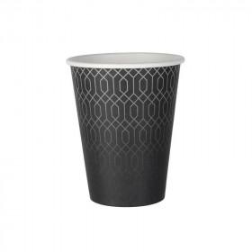 Gobelet carton kraft décor Grey Lines simple paroi 35 cl