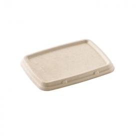 Couvercle bagasse pour barquettes alimentaires 600, 900 ml et 2 cmpts