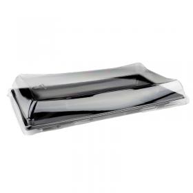 Barquette Sushi noire 12x22 cm