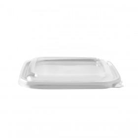 Couvercle PP micro-ondable pour barquettes alimentaires compostables 500 et 750 ml