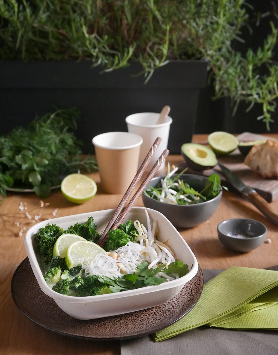 Barquette alimentaire compostable