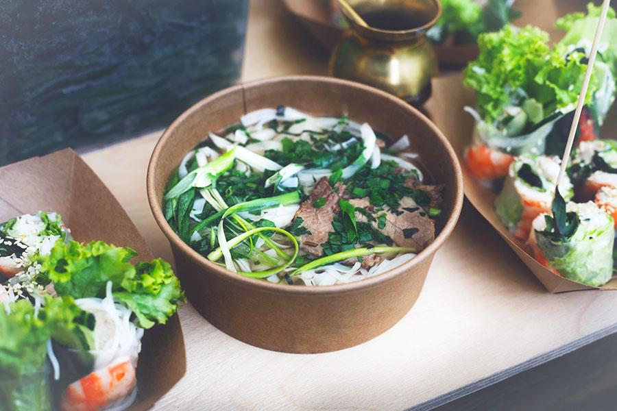 Emballage alimentaire carton salade